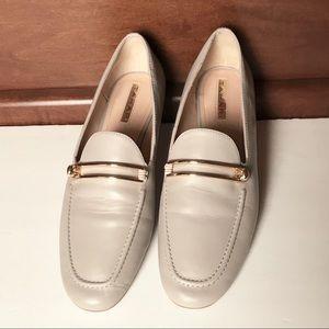 fa04f5e056b Tahari Shoes - Tahari Salty Leather Loafers Gold Clamp Flats Shoe